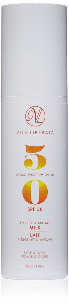 Vita Liberata Neroli and Argan Milk Broad Spectrum SPF 50 Tanning, 3.38 fl. oz. >>> This is an Amazon Affiliate link. Check out the image by visiting the link.