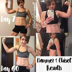 As many of you may know I finished 'The Master's Hammer & Chisel' about a month ago! (If you're not familiar with it it's a 60-day weightlifting program!) But I never got around to sharing my results...I guess I didn't think they were as dramatic as I wanted them to be!! I started in December so I followed it as best as I could through Christmas and New Year's...which can be tough! But I wasn't sweating it...I just did the best I could because well LIFE! This is a journey not a race!! . The…