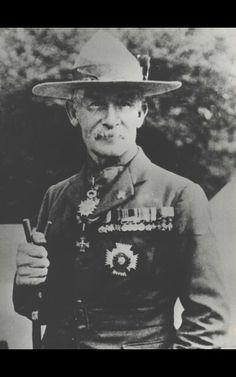 Robert Baden Powell Met De Campaign Hat Van Stetson Scouting