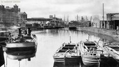 Manchester Ship Canal, Trafford, Manchester, England, United Kingdom, 1955, photographer unknown.