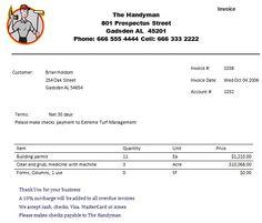 19 Handyman Invoices Ideas Handyman Invoice Template Invoicing