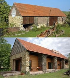 Stone Cottages, Cottage Renovation, Forest House, Tiny House Design, Facade House, Cottage Homes, Architecture, Old Houses, Building A House