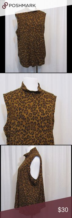 """NEW Lauren Ralph Lauren Animal Print Top 2X Brand: Lauren Ralph Lauren  Size: L Color: Brown/Black  Material: 97% rayon 3% elastase Care Instructions: machine wash  Bust: 46"""" Length: 25""""  All clothing is in excellent used condition. All clothes have been inspected and unless otherwise noted have no rips, holes or stains.   Cont: P17 Lauren Ralph Lauren Tops Blouses"""