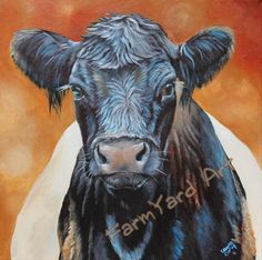 great paintings and ornies from farmyard art on Etsy