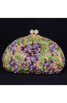 Grape Clutch Evening Bag