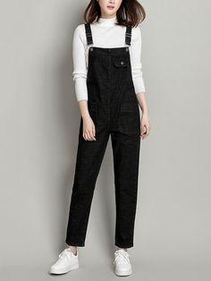 Designer Casual Denim Pockets Rompers For Women - NewChic Girls Fashion Clothes, Teen Fashion Outfits, Mode Outfits, Clothes For Women, Gothic Fashion, Fashion Fashion, Fashion Ideas, Stylish Dress Designs, Stylish Dresses