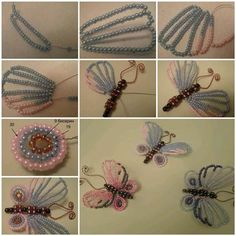 DIY Beautiful Beaded Butterflies | iCreativeIdeas.com Like Us on Facebook ==> https://www.facebook.com/icreativeideas