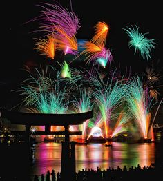 Fireworks over the World Showcase pavilion - Epcot.