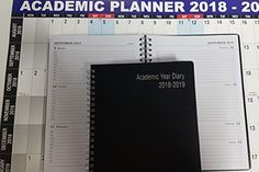 2018-2019 one week to view A5 spiral wiro bound 18 months academic diary and 12 months academic planner