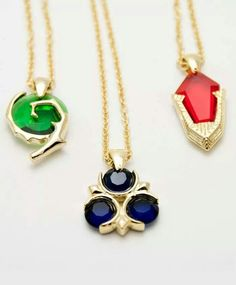 Ocarina of time spirit stone necklaces. Sanshee.com