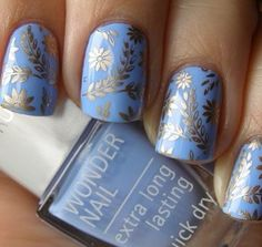 Blue and grey snowflake design