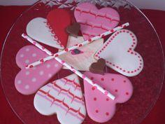 Galletas glaseadas de San Valentín-Valentine's icing cookies