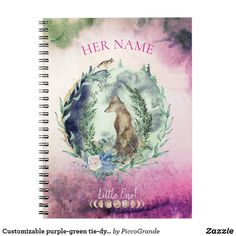 Customizable purple-green tie-dye style boho gal notebook Kindergarden Graduation Gifts, Back To School Quotes, Mouth Mask Fashion, Green Tie, Back To School Shopping, Kids Writing, Cute Photos, Dog Friends, Dog Mom