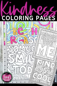 Kindness Coloring Pages Kindness Activities, Color Activities, Craft Activities, Teaching Strategies, Teaching Ideas, Effective Teaching, Educational Crafts, Cooperative Learning, Early Finishers