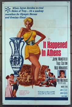 MovieArt Original Film Posters - IT HAPPENED IN ATHENS (1962) 11336, $15.00 (https://www.movieart.com/it-happened-in-athens-1962-11336/)