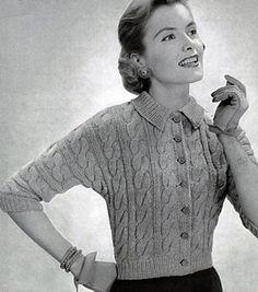 Ravelry: Cardigan Sweater Pattern No. 466 pattern by Bernat Design Studio