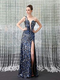 Royal Blue Sequin Prom Dress!