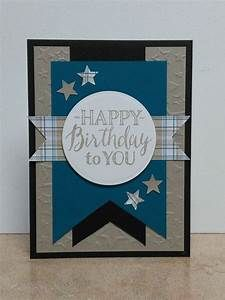 Masculine Birthday Card-Blue | cards | Pinterest ...