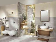 decoration-salle-de-bain de design zen
