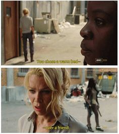 Michonne and Andrea - TWD