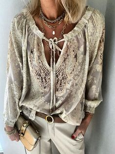 Shirts & Tops, Style Doux, Tops Boho, Shirt Bluse, Europe Fashion, Style Casual, Fashion Outfits, Womens Fashion, Luxury Fashion