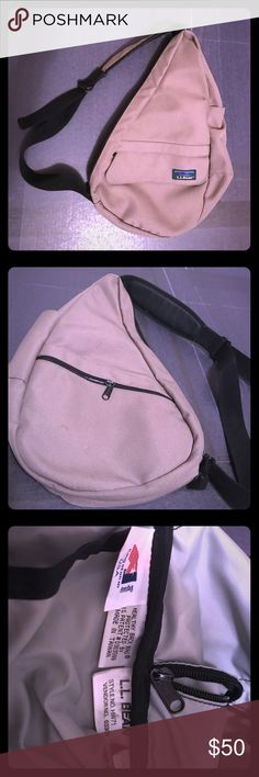 Vintage LL Bean Healthy Back Bag This vintage LL Bean Healthy Back Bag features a cross body design, durability and a bajillion pockets and compartments! L.L. Bean Bags Crossbody Bags