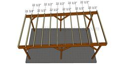 This step by step diy woodworking project is about how to build a flat roof carport. Learn how to make a carport with a flat roof out of wood. Wood Carport Kits, Diy Carport, Carport Plans, Used Woodworking Machinery, Woodworking Projects Diy, Woodworking Furniture, Woodworking Plans, Covered Patio Plans, Wooden Carports