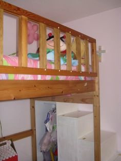 First Project- loft bed stairs/new rail | Do It Yourself Home Projects from Ana White