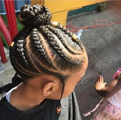 If you have been looking for little girl braids with beads that will give your little girl sweet smi Toddler Braided Hairstyles, Toddler Braids, Lil Girl Hairstyles, Bun Hairstyles For Long Hair, Natural Hairstyles For Kids, Braids For Kids, My Hairstyle, Girls Braids, Natural Hair Styles