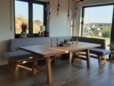 Esstisch Design, Küchen Design, Sweet Home, Home And Garden, Dining Table, Kitchen, Room, Furniture, Inspiration