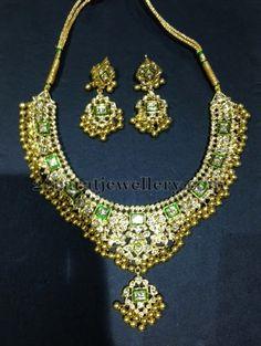 Jewellery Designs: Kundan Polki Necklace
