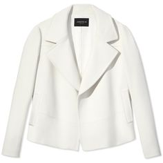 Lafayette 148 New York Pam Blazer (11 010 ZAR) ❤ liked on Polyvore featuring outerwear, jackets, blazers, white blazer, white jacket and lafayette 148 new york