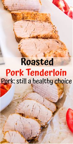 This Roasted Pork Tenderloin recipe is incredibly easy to make, perfect for a weeknight dinner that is ready in 30 minutes. This is a quick and healthy method of preparing Roasted Pork Tenderloin in t Healthy Pork Tenderloin Recipes, Easy Pork Tenderloin Recipes, Oven Roasted Pork Tenderloin, Healthy Pork Recipes, Pork Roast In Oven, Roasted Pork Tenderloins, Cooking Recipes, Pork Chops, Oven Baked Pork Tenderloin