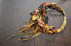Создаем колье из кожи «Осеннее настроение» - Ярмарка Мастеров - ручная работа…