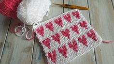 Today I thought I would play with designing a simple heart pattern but I wanted to do it in such a way that you didn't have to sew in lots of tail ends. I ho...