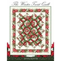 Winter Twist Quilt Pattern Book - Includes instructions for a Table Runner, Tree skirt, and wall han Quilting Stitch Patterns, Fabric Patterns, Quilting Ideas, Quilting Projects, Jelly Roll Patterns, Keepsake Quilting, Primitive Patterns, Grey Quilt, Quilted Table Runners