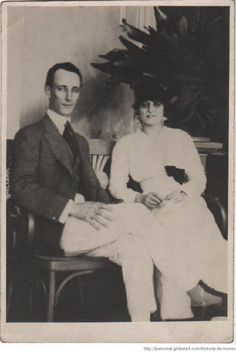 El Arq.Alejandro Bustillo y su novia Blanca Ayerza, en 1914. Cortesía de su hijo Alejandro (h)