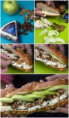 Blue cheese σαντουιτς