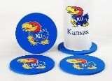 "Kansas Jayhawks Coasters (4 Pack) - Kansas Jayhawks Coasters (4 Pack)      Made in China  NCAA Kansas Jayhawks Coasters (4 Pack)      List Price: $  10.00    Price: [wpramaprice asin=""B002S9UIXU""]      [phpbay keywords=""{category}"" num=""12"" siteid=""1"