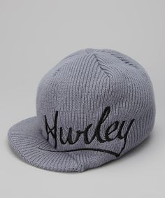 Take a look at this Gray 'Hurley' Oilers Brimmed Beanie by Hurley on #zulily today!