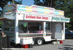 Visiting the Williams Grove Flea Market in Dillsburg Pennsylvania - Food Vendor Trucks at the Flea Market Every Sunday!