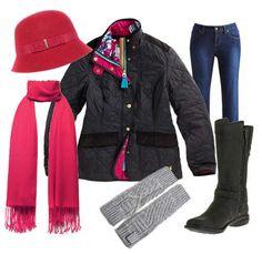 raspberry cloche padded jacket merrell boots