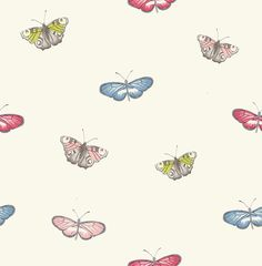 Butterfly Vintage Powder Blue Powder Blue wallpaper by iliv
