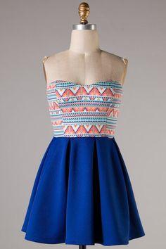 East Coasting Dress: Blue - Shoreline Boutique