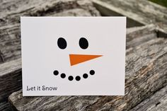 DIY Christmas Cards: Snowman/Frosty the Snowman Face