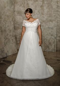 d49b5cac2 Plus wedding dress. See more. A pretty A-line dress that works great for full  figured (or expectant)