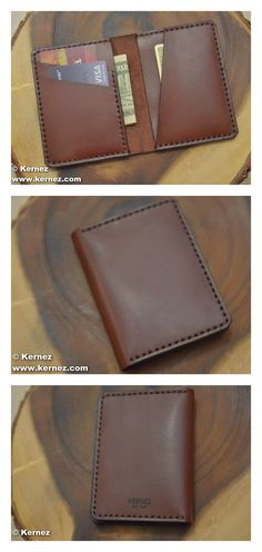 This slim brown leather wallet holds everything you need without weighing you down. Four card slots will carry cards, cash, ID, and any other documents. The bi fold design keeps it thin and portable, while the quality materials give it a professional appearance.