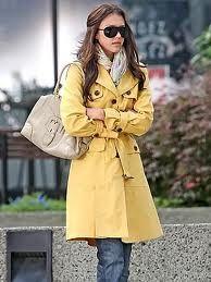 i think i need this yellow trench coat.