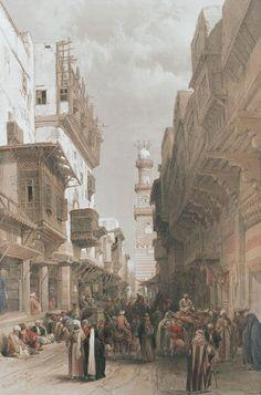 David Roberts - Egypt and Nubia, Volume III; Mosque el Mooristan, Cairo, 1849