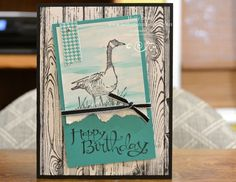 Stampin' Up! Wetlands meets Hardwood Floor to make the Perfect Masculine Card!